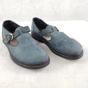 Rieker comfort blue suede slip on loafer Size 8